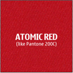 Atomic Red 100% polyester fabric for trade show logo table cloths
