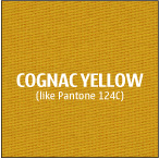 Cognac Yellow 100% polyester fabric used for our custom trade show table covers