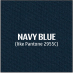 Navy Blue 100% polyester fabric used for custom logo table cloths