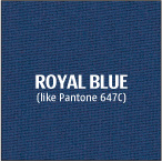 Royal blue polyester fabric for custom trade show tablecloths