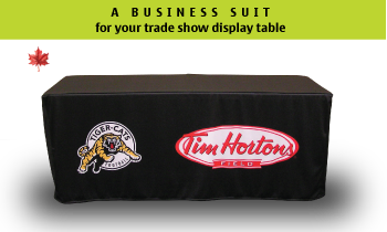 Custom Dye Sublimation Printed Trade Show Table Cloth