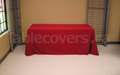 Red plain unprinted 6 foot table throw